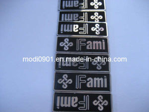Screen Printed Customized Logo Glossy Metal Business Card Metal Label-Milling Aluminum Label (KS-AL2209) pictures & photos