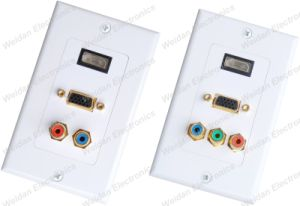 HDMI/VGA/RCA Multimedia Wall Plate, Decorastyle pictures & photos