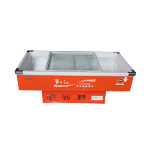 Single Temperature Sliding Glass Door Seafood Freezer with LED Light pictures & photos