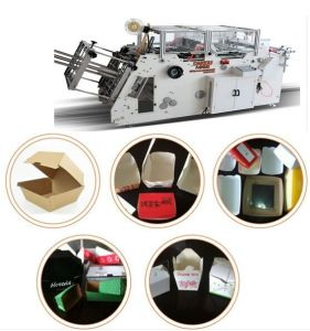 China Food Paper Box Machine with Gluing pictures & photos
