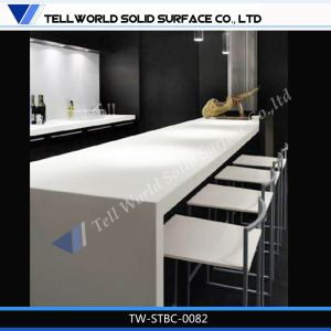 2016 Top Sales Custom Bar Counter Commercial Newly Design LED Orange Lighted Kfc Bar Counter with Light pictures & photos