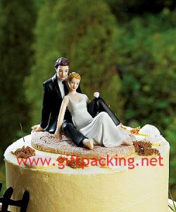 Romantic Couple Lounging on The Beach Wedding Resin Craft/Cake Topper