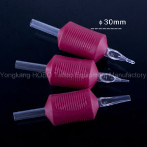 Wholesale 1.25′′ (30mm) Combo Style Tattoo Silicone Rubber Grip with Needle pictures & photos
