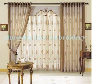 Embroidery Curtain Fabric/Voile