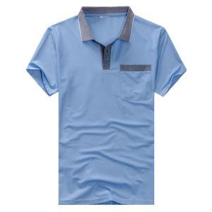 Polo Neck Short Sleeve T-Shirt Moisture Absorption and Sweat Releasing T-Shirt