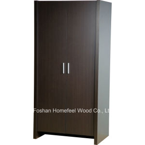 Sturdy & Durable Wooden Bedroom 2 Door Wardrobe Closet (WB78) pictures & photos