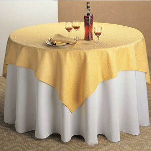 Discount High Quality 100% Polyester Restaurant Table Cover pictures & photos