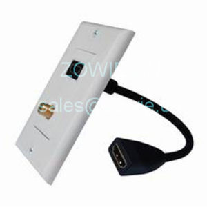 HDMI Wall Plate With 1 F81 Coupler and HDMI Extension Cable