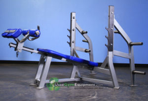 Hammer Strength, Olympic Decline Bench with Weight Storage (SF1-3011A) pictures & photos