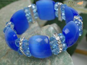 Cat′s Eye Bracelet with Crystal