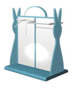 2014 Newest Design Retail Store Wooden Display Stand