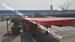 Cimc 40FT Semi Flatbed Trailer with 3 Axle Truck Chassis pictures & photos