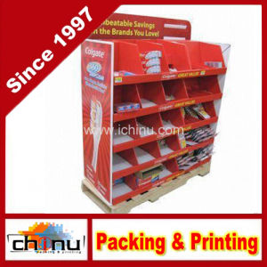 Cardboard Corrugated Pallet Rack Display (6118) pictures & photos