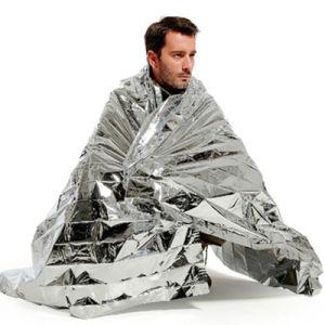 Silvery Emergency Insulation Blanket Life Saving Blanket Hiking Camping Emergency Blanket pictures & photos