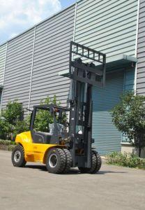 Un 7.0t Heavy Duty Diesel Forklift with Original Isuzu Engine and Ce pictures & photos