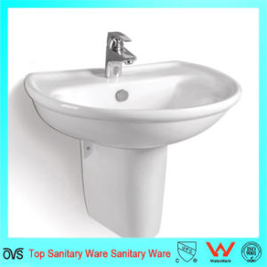 Half Pedestal Hand Washing Wall-Hung Basin for North American Market pictures & photos