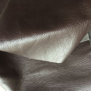 Big Deep Lychee Microfiber Leather for Furniture Sofa Making Hw-635 pictures & photos