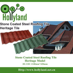 Stone Sand Coated Steel Metal Roofing Tile Sheet (Classical Type) pictures & photos