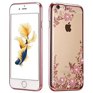 Rose Gold TPU Plating Clear Shiny Rhinestone Cover Case Series for iPhone 7 4.7 Inches pictures & photos