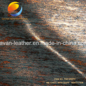 Synthetic Leather Yumbuck Metalic Surface for Lady Shoes pictures & photos