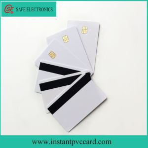 Double Sides Printable Instant Magnetic Stripe ID PVC Card with Sle4442 Chip pictures & photos