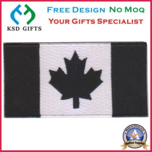 Customized Canada Flag Embroidery Patch Badge pictures & photos