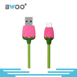 Rose USB Data Cable with Micro USB Connector pictures & photos
