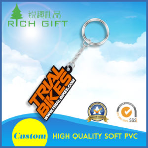 Fancy Soft PVC/Rubber Keychains with Metal Ring pictures & photos