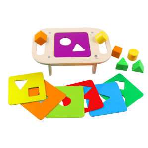Wooden Shape Sorting Table Toy for Children and Kids pictures & photos