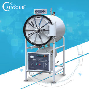 Horizontal Cylindrical Pressure Steam Sterilizer Sugold pictures & photos