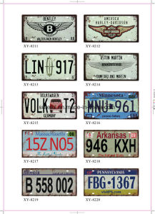 Home Decor Vintage Tin Signs 15*30cm 20*30cm 30*30cm pictures & photos