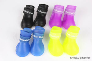 Quality Customized Waterproof Dog Rain Boot PVC Small Pet Shoes pictures & photos