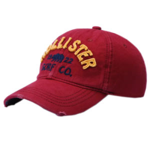 Custom Embroidery Cap Burshed Cotton Promotional Sports Embroidery Washed Cap pictures & photos