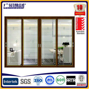 Aluminum Framed Balcony Patio Sliding and Lift Door Big Sashes with Imported Pulley and Handle pictures & photos