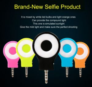 2016 New Arrivals Color Selfie Stick Portable Mobile Selfie Flash Light Rk-07 pictures & photos