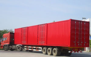 45 Feet Van Type Container Semitrauiler pictures & photos