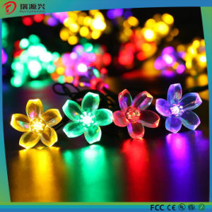 Outdoor Solar Flower LED String Light