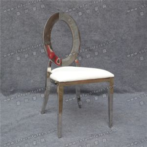 Silver Oval Back Hollow out Stainless Steel Chair Legs (YC-ZS48-1) pictures & photos