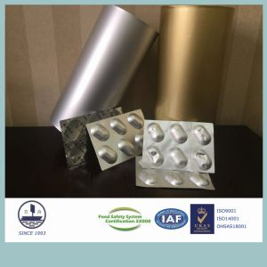 Alloy 8021 Alu Alu Foil for Pharmaceutical Packaging Tablets 0.140-0.160mm in Thickness pictures & photos