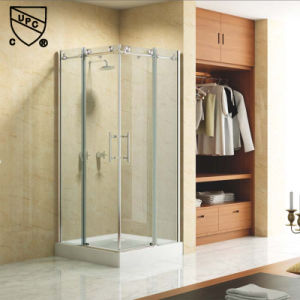 Aluminum Profile Sliding Bathroom Shower Enclosure with Stainless Steel Handle (K04) pictures & photos