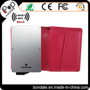 2017 Rose PU Leather Card Protector RFID Blocking for Europe Market pictures & photos