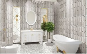 Nice Trip Marble Mosaic /Ceramic Tile / Glass Mosaic for Wall Tile (FYSC099) pictures & photos