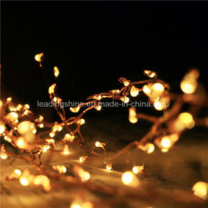 Firecracker LED Starry String Light Battery Operated 36FT Copper Wire 120 LEDs Lights Warm White pictures & photos