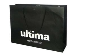 Hot Foil Stamping Black Paper Bag Printing pictures & photos