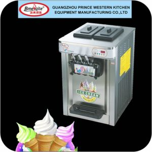 Home Use Large Production Soft Serve Ice Cream Machine with Air Pump pictures & photos