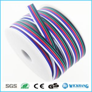5pin RGBW Extension Cable Wire 22 AWG for RGB Color LED Strip SMD 5050 3528 pictures & photos