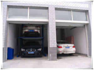 Two Post Two Layer Hydraulic Mechanical Car Garage pictures & photos