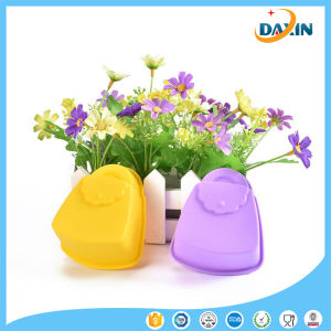 School Bag Shape Horse Fern Cup Silicone Cake Mold pictures & photos