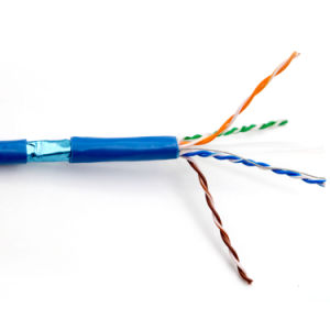 CAT6 FTP Network Cable with RoHS Jacket Al Foil with Copper or Tinned Copper pictures & photos