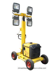Generator Powered Portable LED Light Tower for Road Construction pictures & photos